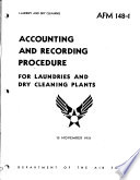 Accounting and Recording Procedure for Laundries and Dry Cleaning Plants