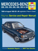 Mercedes Benz 124 Series 85 To 93 Service And Repair Manual