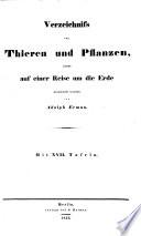 Naturhistorischer Atlas-Verzeichniss von Thieren und Pflanzen welche auf einer Reise um die Erde gesammelt wurden von A. Erman