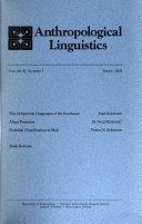 anthropological linguistics