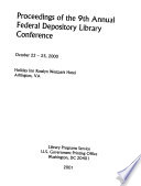 Proceedings of the ... Annual Federal Depository Library Conference