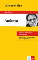 Lektürehilfen Max Frisch, Andorra