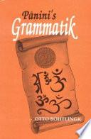Pāṇini's Grammatik