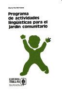 Programa De Actividades Ling Sticas Para El Jard N Comunitario
