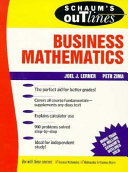 Schaum s Outline of Theory and Problems of Business Mathematics
