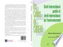 Droit International Public Et Droit International De L Environnement