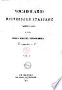 Vocabolario universale italiano compilato a cura della Societa tipografica Tramater e C.i