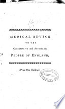 Medical Advice To The Consumptive And Asthmatic People Of England