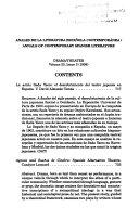Anales De La Literatura Espa Ola Contempor Nea