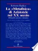 La  Metafisica  di Aristotele nel XX secolo