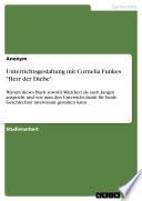 Unterrichtsgestaltung mit Cornelia Funkes  Herr der Diebe