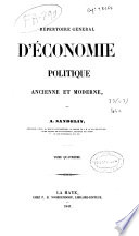 Repertoire General d Economie Politique ancienne et moderne