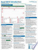 Microsoft Excel 2016 Introduction Quick Reference Training Guide  Cheat Sheet of Instructions  Tutorial  Tips   Shortcuts