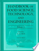 Handbook Of Food Science Technology And Engineering book