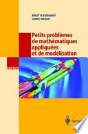 illustration Petits problèmes de mathématiques appliquées et de modélisation
