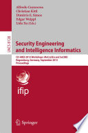 Security Engineering and Intelligence Informatics