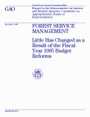 download ebook forest service management little has changed as a result of the fiscal year 1995 budget reforms : report to the subcommittee on interior and related agencies, committee on appropriations, house of representatives pdf epub