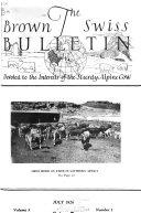 Book The Brown Swiss Bulletin