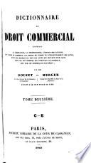 Dictionnaire De Droit Commercial Etc Par Mm G Et M With The Assistance Of Canchois And Portier Advocats