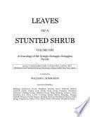 LEAVES OF A STUNTED SHRUB Vol One