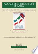 Accademie   Biblioteche d Italia 1 2 2013
