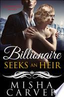 Billionaire Seeks An Heir Book 3  Unforgettable Melody