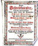Neuer Schreibkalender [Saltzburgische Chronica]