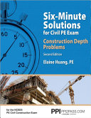 Six Minute Solutions for Civil PE Exam  Construction Depth Problems