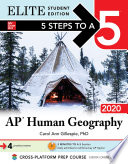 5 Steps To A 5 Ap Human Geography 2020 Elite Student Edition