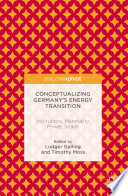 Ebook Conceptualizing Germany's Energy Transition Epub Ludger Gailing,Timothy Moss Apps Read Mobile