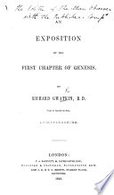 An Exposition Of The First Chapter Of Genesis