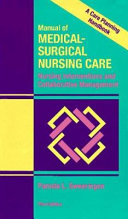 Manual Of Medical Surgical Nursing Care