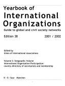 Yearbook of International Organizations 2001 2002