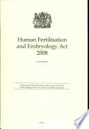 Human Fertilisation And Embryology Act 2008 Elizabeth Ii