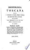 Ornitologia toscana  ossia  Descrizione e storia degli uccelli che trovansi nella Toscana