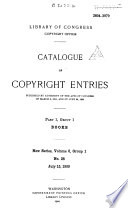 Catalogue Of Copyright Entries