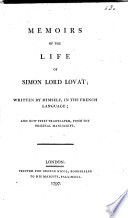 Memoirs of the Life of Simon Lord Lovat