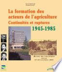 La formation des acteurs de l'agriculture en France