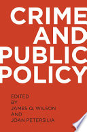 Crime and Public Policy