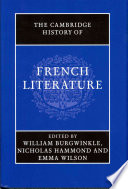 The Cambridge History of French Literature