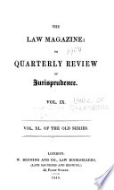 Law magazine   or quarterly review of jurisprudence