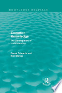 Common Knowledge  Routledge Revivals
