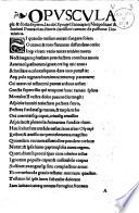 Opuscula pia   docta septem  Cypriani  Ausonii  Claudiani  J  Joviani Pontani  Fausti Andrelini  Iacobi Synceri Sannazarii Neapolitani   Iouani Pontani     Carmen de passione Dominica