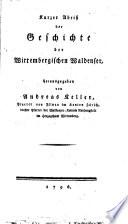 Kurzer Abriss der Gesch. der Würtemberg. Waldenser