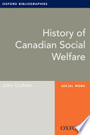 History of Canadian Social Welfare  Oxford Bibliographies Online Research Guide