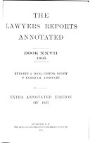 Lawyers  Reports Annotated
