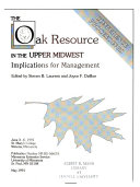 The Oak Resource in the Upper Midwest