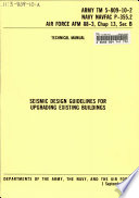 Seismic Design Guidelines for Upgrading Existing Buildings