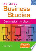 As Level Business Studies Handbook