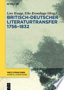Britisch-deutscher Literaturtransfer 1756–1832